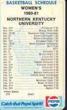 1980-81 Northern Kentucky Women's Basketball Schedule jhhp