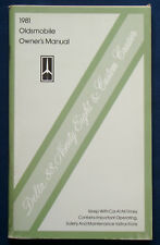 Owner's manual * Manuel 1981 Oldsmobile Delta 88 * Ninety-Eight (USA)