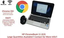 HP ChromeBook 11 (G3) Intel Celeron N2840 2.16GHz 16GB SSD 4GB RAM | Grade C