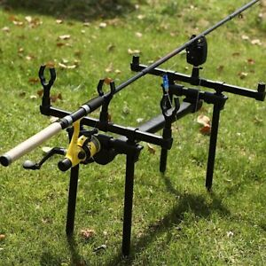 Adjustable Retractable Carp Fishing Rod Pod Stand Holder Pole Stand Accessory