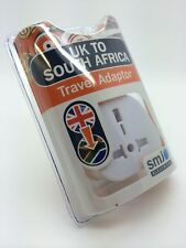 SMJ Electrical TASAAC UK to South Africa Travel Plug Adapter 15a