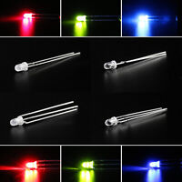 LED 3mm Dual Bi-Color Water Clear Diffused Bright Common Cathode Anode Diode BK
