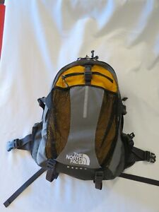 North Face Recon Gray/Yellow Adult Unisex Backpack Hiking Laptop School Travel