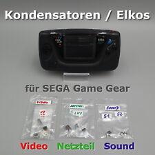 Sega Game Gear Kondensatoren ELKOS Ersatz Reparatur Set wenn kein Ton Bild Strom