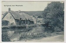 Dorset postcard - Springhead near Weymouth - P/U 1933