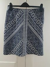 New listing Monsoon Tapestry Style Blue Pencil Skirt Size 10 lined