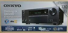 Onkyo TX-NR555 (B) Schwarz 7.2-Kanal-A/V-Netzwerk-Receiver, 130 W/Kanal