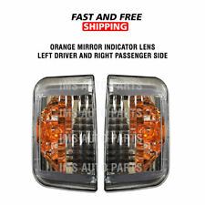 Dodge Ram Promaster Door Mirror Orange Indicator Lens LH RH Pair 2014 To 2018