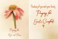 Handcrafted Pop-Up 3D Painted Daisy Flower Sympathy Card