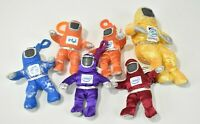 """Intel Bunny Suit Guys Lot of 6, 5"""" and 7.5"""" Orange Blue Purple Yellow Red Plush"""
