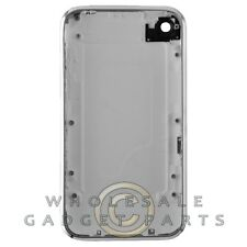 Door with Chrome Bezel for Apple iPhone 3GS White Panel Housing Battery Cover