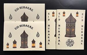 Brand New Eid Mubarak Cards. 4 X Beautiful Eid Cards