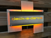 Mailbox House Sign Laser Cut Stainless Steel with LED Size: 400mm x 200mm