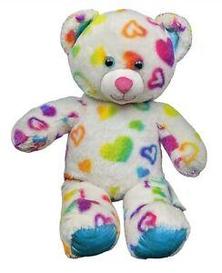 "16"" Classic Build-a-Bear Rainbow Bear freshly washed soft and snuggable"
