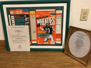 Framed Dan Marino Autographed Record Breaker Wheaties Box 266/5000