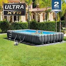 Intex 32ftx16ftx52in Rectangular Ultra Xtr Frame Swimming Pool Filter Pump