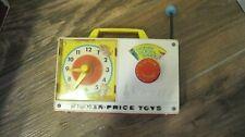 Vintage Fisher Price 1964 Music Box Clock Radio Wind Up Hickory Dickory Dock 107