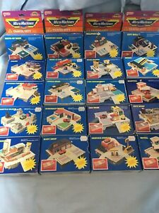 Micro Machines, Travel City Playsets, 20 In Total, Galoob, Boxed, Fair Condition