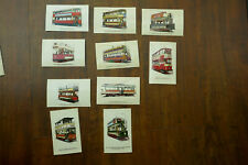More details for 10 vintage tramcyclopaedia postcards - electric trams