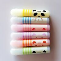 6Pcs Cute Animals Panda Cat Mini Paint Marker Pen Drawing Liquid Highlighter