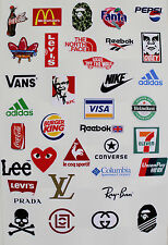 36pcs Vinyl Stickers Brand Logo for Snowboard Luggage Car Laptop Bike Phone 9445