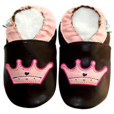 Freeship Littleoneshoes Soft Sole Leather Baby Infant Kids CrownBrown Shoe 6-12M