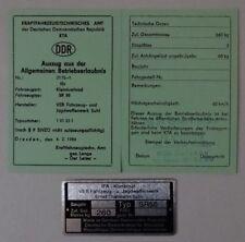1 grüne ABE SR 50 Roller Betriebserlaubnis SIMSON Stadtroller noTypenschild DDr