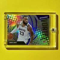 Lebron James VORTEX REFRACTOR INSERT 2021 PANINI REVOLUTION LAKERS CARD - Mint!