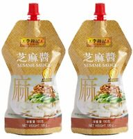 【Pack of 2】LEE KUM KEE Sesame Sauce190g*2  李锦记芝麻酱190克x2袋 Free US Shipping