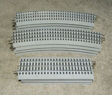 """LIONEL FASTRACK 0-72 CURVE & 10"""" STRAIGHT TRACK SECTIONS, Lot of 12   (TR6)"""