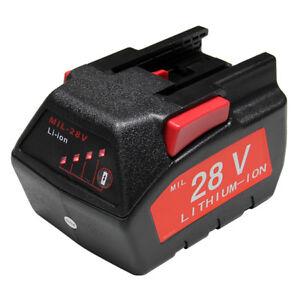 Refuelergy For MILWAUKEE 28V M28 V28 Power Tool Battery 48-11-2830 w/LED Gauge