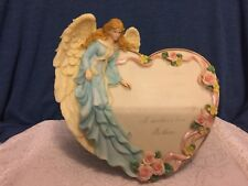 "ANGEL HEART SHAPED  PLAQUE, ""A MOTHER'S LOVE IS LIKE A GARDEN..."""