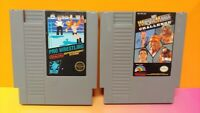 Pro Wrestling + Wrestlemania Challenge  Nintendo NES Authentic Game Tested Works