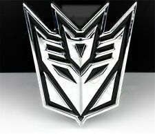 One 7.5cm*7.5cm Metal Big TRANSFORMERS DECEPTICONS Car Body Sticker Badge Emblem