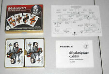 Carte SHAKESPEARE Whist Bridge Rummy Canasta – Piatnik 1980 NUOVO Cards
