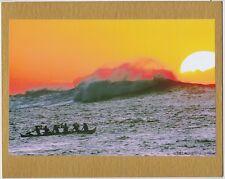 Paddlers At Avalanche, Oahu Award Winning Photo Giclee On 8X10 Inch Matt Board