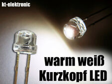 50 Stück LED 5mm warm weiß, Kurzkopf, Flachkopf 2000mcd 110°