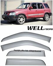 For 97-01 CRV WellVisors Side Window Visors Premium Series Rain Guard