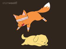 Woot! Shirt - The Quick Brown Fox (Brown) - Size Medium