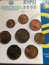 6f99c521d0 Grecia Monete Set X8 2002 bunc Ufficiale NUOVO BLISTER 1 cent a 2 € euro  prima