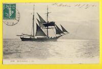cpa FRANCE Cachet NANTES 1910 Ecrite de St Brévin BRICK GOÉLETTE Voilier 2 Mâts