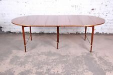 Paul McCobb Connoisseur Collection Mahogany and Brass Dining Table, Restored