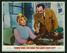 Where Were You When the Lights Went Out 1968 original 11x14 lobby card Doris Day