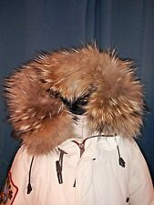 Dsquared Goose Down Raccoon Fur Jacket Parka Coat.Massive Hood Trim.Sz 42 Rare