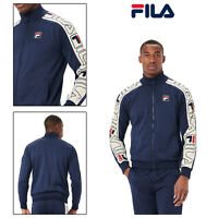 FILA Mens Classic Logo Comfortable Zip Gatlin Stripe Tracksuit Track Jacket Top