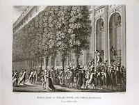 Camille Desmoulins en 1789 au Palais Royal à Paris Rare Gravure Révolution