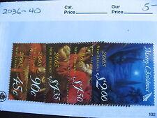 NEW ZEALAND Christmas/Xmas 2005 set Sc 2036-40 MNH