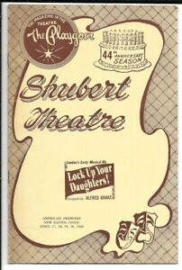 """""""Lock Up Your Daughters!""""  (NEVER OPENED)   Playbill  1960  New Haven   TRYOUT"""