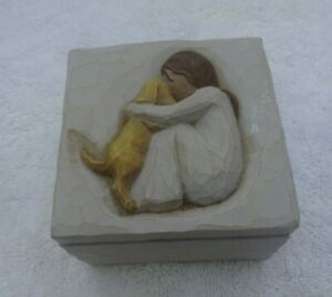 Willow tree trinket box called true girl and her dog