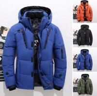 Winter Men's Warm Duck Down Jacket Ski Jacket Snow Hooded Coat Climbing Size 3XL